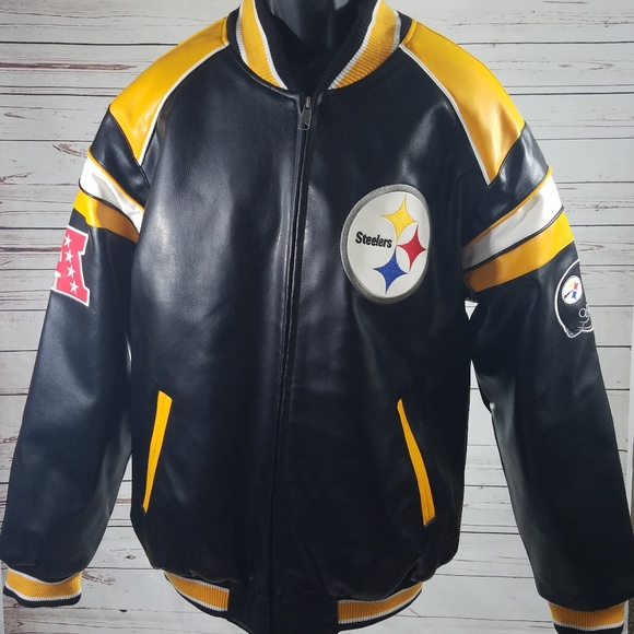 2a906beb0 Pittsburg Steelers LARGE Leather jacket. M 5b9bfd7ed6dc5276c4f9d78d